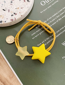 Fashion Yellow Scrub Stars Hit The Color Hair Ring