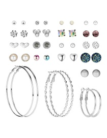 Fashion Color Stud Earrings Set (20 Pairs)