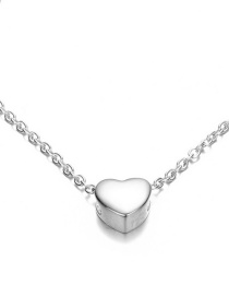Fashion Steel Color Stainless Steel Necklace