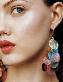 Color Alloy Natural Shell Earrings