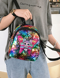 Butterfly Colorful Children's Cartoon Sequin Backpack