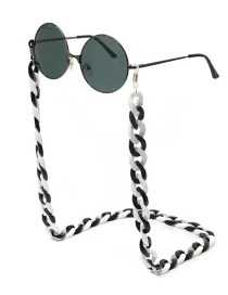 Black And White Acrylic Glasses Chain