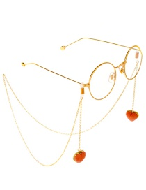 Gold Metal Love Glasses Chain