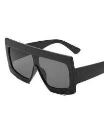 Black Frame Black Gray Piece Oversized Framed Sunglasses
