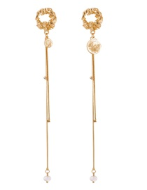 Fashion Gold Alloy Portrait Earrings
