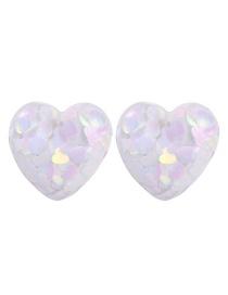 Fashion White Resin Love Earrings