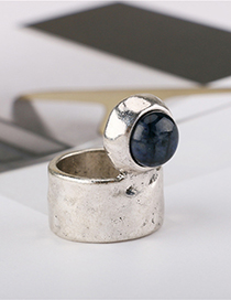 Fashion Silver Original Stone Inlay Made Of Old Metal Ring
