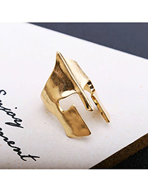 Fashion Gold Spartan Warrior Mask Alloy Ring