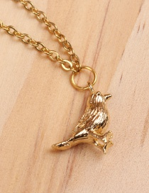 Fashion Sparrow Gold Titanium Steel Plated Gold Necklace