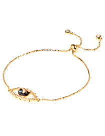 Fashion Gold Eye Color Shell Zircon Micro-inlaid Bracelet