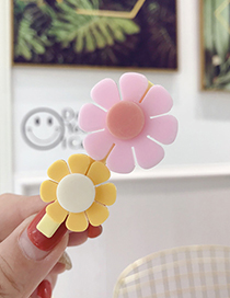 Fashion Pink Contrast Flower Hair Clip