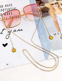 Fashion Gold Alloy Smiley Glasses Chain