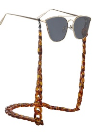 Fashion Leopard Resin Acrylic Environmental Protection Glasses Chain