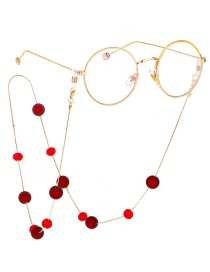 Fashion Gold Crystal Frosted Beads Sweater Chain Glasses Chain Multi-purpose Models