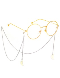 Fashion Silver Stainless Steel Chain Opal Moon Anti-skid Glasses Chain