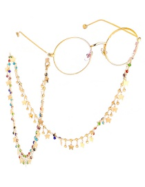 Fashion Gold Butterfly Color Diamond Anti-skid Glasses Chain