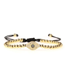 Fashion Gold Micro-inlaid Zircon Eye Color-protected Gold Fine Bracelet