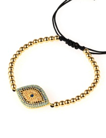 Fashion Gold Full-drilled Eye Steel Ball Micro-inlaid Zircon Bracelet
