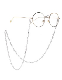 Fashion Silver Stainless Steel Heart Color Anti-slip Glasses Chain