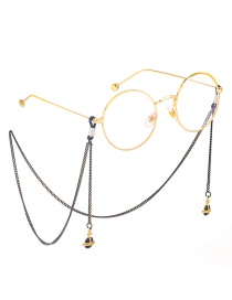 Fashion Black Hanging Neck Saturn Satellite Does Not Fade Chain Glasses Chain