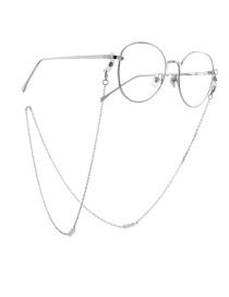 Fashion Silver Artificial Pearl Non-slip Glasses Chain