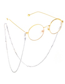 Fashion Silver Stainless Steel Triangle Color Protection Non-slip Glasses Chain