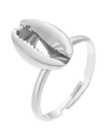 Fashion Silver Shell Alloy Ring