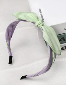 Fashion Green Bow Tie Color Fabric Headband