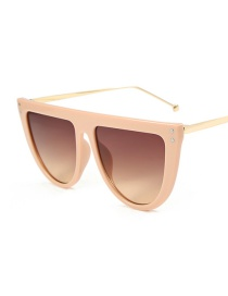 Fashion Tea Frame Double Tea Sunglasses