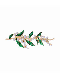 Fashion Brooch Drop Glazed Pearl Vine Brooch