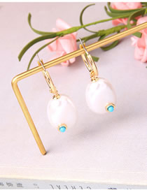 Fashion Gold Pearl And Diamond Earrings