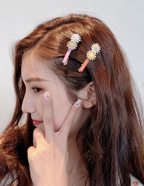Fashion Orange Cherry Blossom: Small Daisies: Hairpin