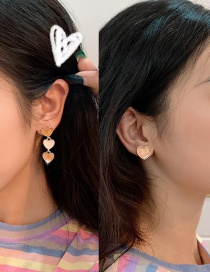 Fashion Teenage Love (asymmetric Earrings) S925 Silver Love Asymmetric Earrings