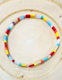 Fashion Color Woven Imported Bead Bracelet