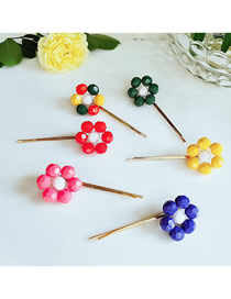 Fashion Combination Flower Beads Hairpin
