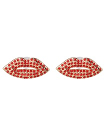 Fashion Red Flame Red Lip Stud