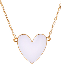 Fashion White Alloy Love Necklace