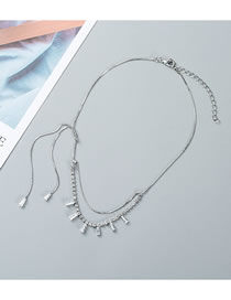 Fashion Silver Crystal Double Neck Chain
