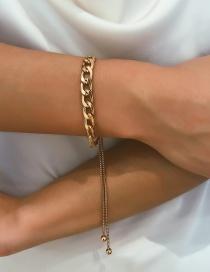 Fashion Gold Thick Chain Adjustable Bracelet