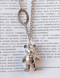 Fashion Silver Metal Bear Thick Chain Necklace