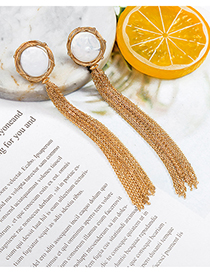 Fashion Gold Fringed Pearl Earrings