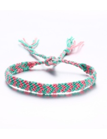 Fashion Pink Green Arrow Color Rope Woven Anklet