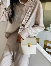 Fashion White Frosted Rivet Crossbody Bag