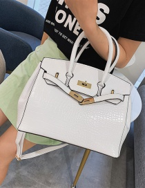 Fashion White Stone Pattern Crossbody Shoulder Bag