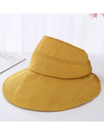 Fashion Yellow Striped Foldable Top Hat