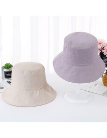 Fashion Light Purple Double-sided Visor Fisherman Hat
