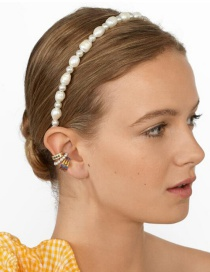 Fashion Pearl White String Pearl Headband