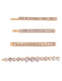 Fashion Gold Alloy Diamond Hair Clip Set