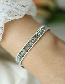 Fashion Color Braided Crystal Push-pull Bracelet