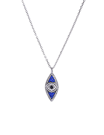 Fashion Silver Eye Diamond Necklace